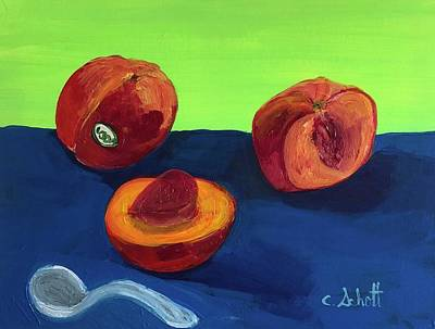 Painting - Peachy by Christina Schott