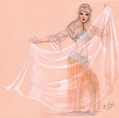 Peachy Dancer Art Print by Scarlett Royal