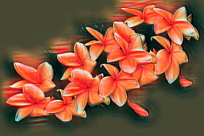 Photograph - Peachy Frangipani by Debra and Dave Vanderlaan