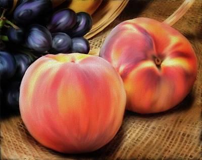 Mixed Media - Peachy Fruit by Mary Timman