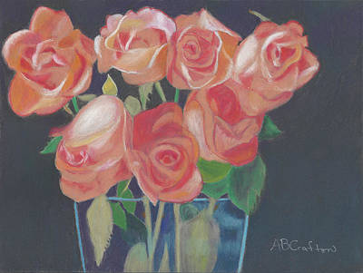 Painting - Peachy Glow by Arlene Crafton