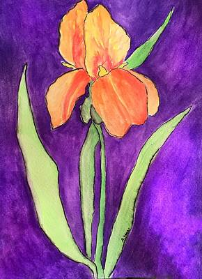 Painting - Peachy Iris by Anne Sands