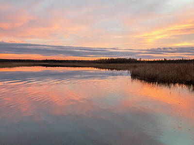 Photograph - Peachy Pink Sunset At Boy Lake #2 by Patti Deters