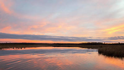 Photograph - Peachy Pink Sunset At Boy Lake #3 by Patti Deters