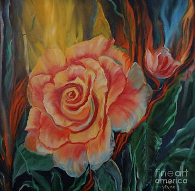 Peachy Rose Art Print