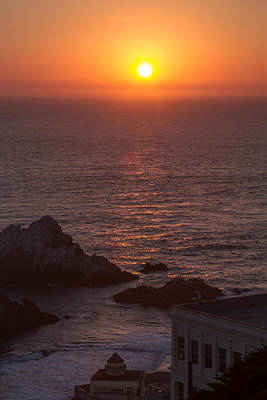 Photograph - Peachy San Francisco Sunset by Bonnie Follett