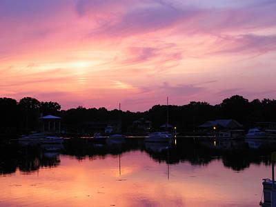 Photograph - Peachy Sunset by Judy Wanamaker