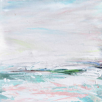 Painting - Peachy Waterscape by Karen Ahuja