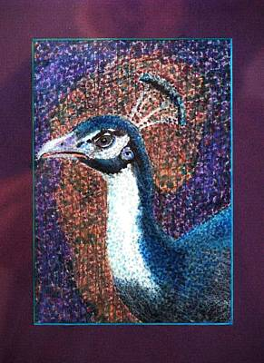 Drawing - A Peacock's Gaze  by Angela Davies