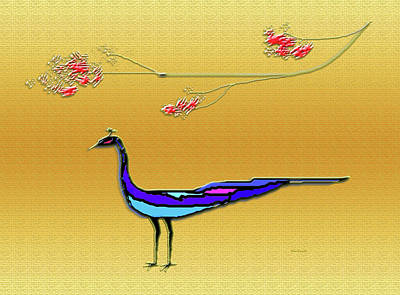 Peacock Art Print by Asok Mukhopadhyay