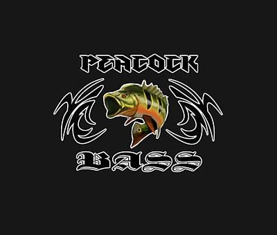 Digital Art - Peacock Bass 2 by Peggy Novak