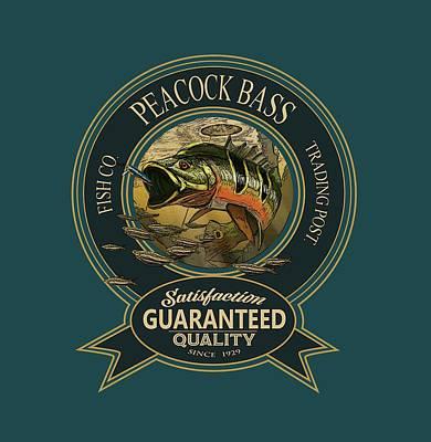 Digital Art - Peacock Bass Logo by Peggy Novak