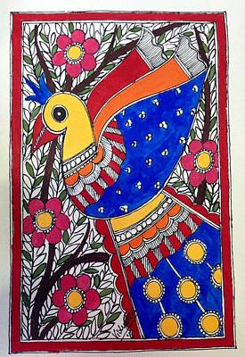 Painting - Peacock Beauty by Vidushini Prasad