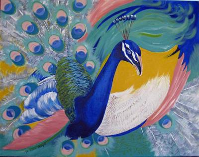 Painting - Peacock Glory by Lisa Boyd