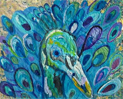 Purple Painting - Peacock by Paintings by Gretzky