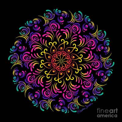 Digital Art - Peacock by Heather Schaefer