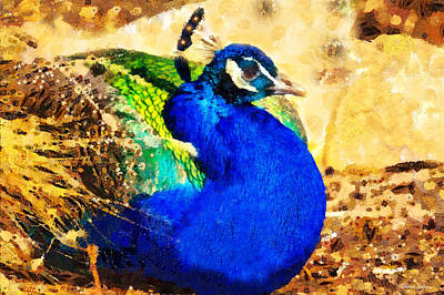 Photograph - Peacock In Klimt by Anna Louise