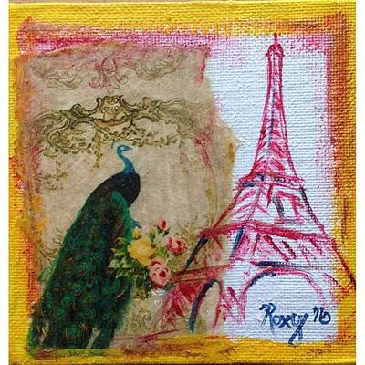 Food And Beverage Painting - Peacock In Paris  by Roxy Rich