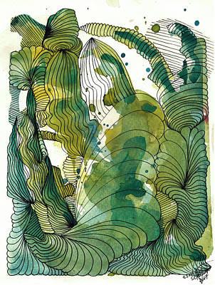 Drawing - Peacock by Julia Zoellner
