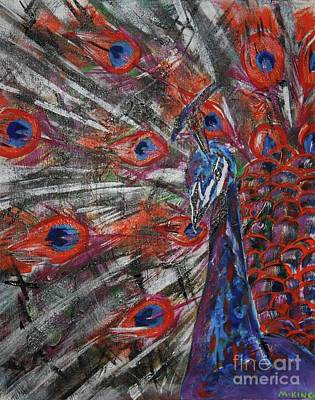Peacock Art Print by Kevin King