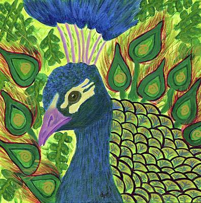Painting - Peacock Power by Stephanie Agliano