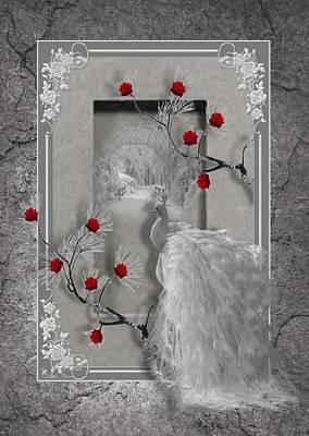 Digital Art - Peacock Purity by Ali Oppy