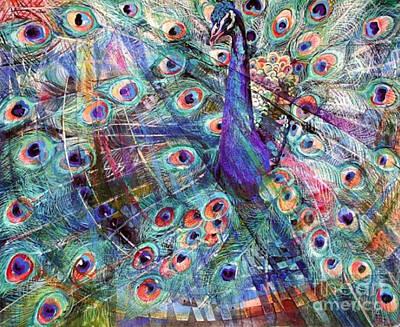 Bedroom Painting - Peacock by Rumyanka Bozhkova