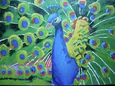 Painting - Peacock by Sarah LaRose Kane
