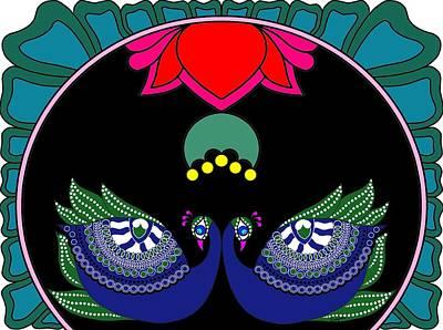 Painting - Peacocks-ii by Pratyasha Nithin