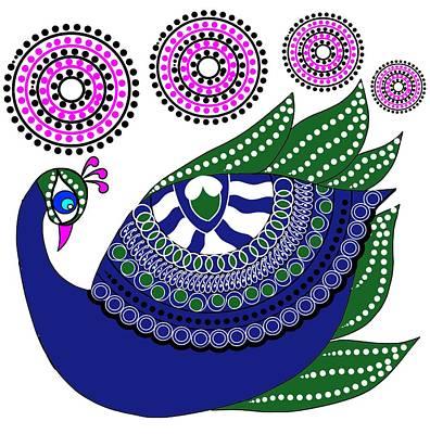 Painting - Peacocks by Pratyasha Nithin