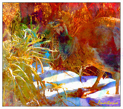 Photograph - Peahen In Winter Garden I by Anastasia Savage Ealy