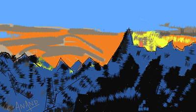 Digital Art - Peak-3 by Anand Swaroop Manchiraju