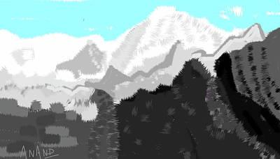 Digital Art - Peak-4 by Anand Swaroop Manchiraju