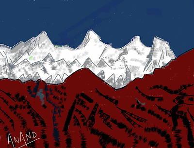 Digital Art - Peak-5 by Anand Swaroop Manchiraju
