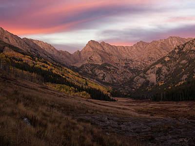 Photograph - Peak C Sunset by Aaron Spong