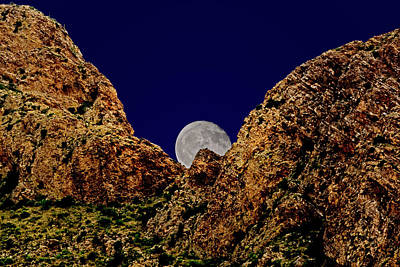 Mark Myhaver Royalty-Free and Rights-Managed Images - Peak Full Moon h03 by Mark Myhaver
