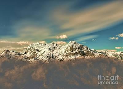 Sculpture - Peak In The Clouds by Dave Luebbert