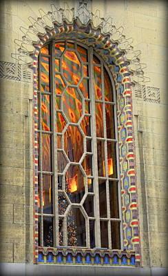 Aztec Pottery Photograph - Peek Inside Arched Guardian Building Window by Anita Hiltz
