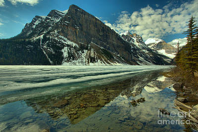 Photograph - Peak Reflections In Lake Louise by Adam Jewell