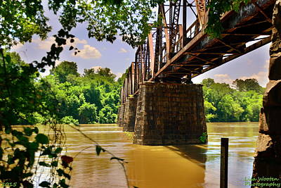 Photograph - Peak Sc Train Trestle by Lisa Wooten