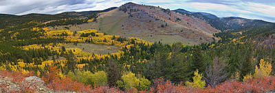 Photograph - Peak To Peak Highway Boulder County Colorado Autumn View by James BO  Insogna