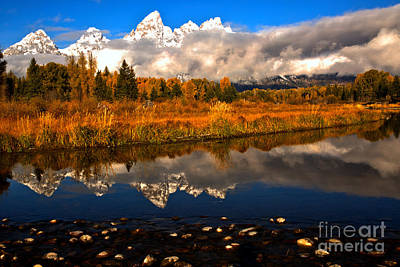 Photograph - Peaks And River Rocks In The Snake River by Adam Jewell