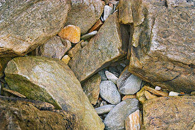 Peaks Island Rock Abstract Photo Art Print by Peter J Sucy