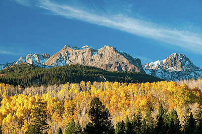 Photograph - Peaks Over The Aspens by Steve Stuller