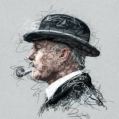 Painting - Peaky Blinders Scribble by Jean Moore