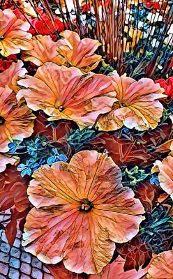 Digital Art - Peanies Flower Blossom by Artful Oasis