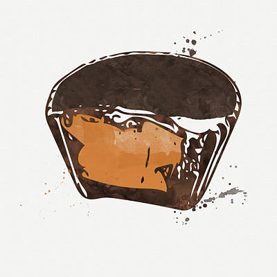 Peanut Butter Cup Art Print by Linda Woods