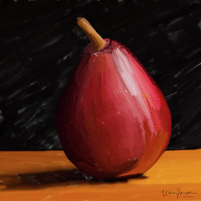 Painting - Pear 01 by Wally Hampton