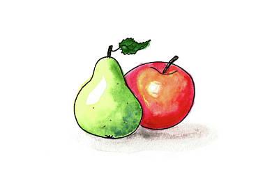 Painting - Pear And Apple by Masha Batkova