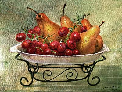 Pear And Grape Platter Original by Franco Puliti